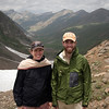 We stopped for a picture at the summit of the pass; behind us is the valley we're about to descend. This pass marked the boundary between Azad Kashmir, through which we'd been hiking for the past 5 days, and Khyber-Pakhtunkhwa (formerly Northwest Frontier Province), in which we had started and which we're about to head back into.