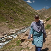 Day 1: 12 miles, 10,300 ft to 12,800 ft. We hiked along this river valley the whole day.