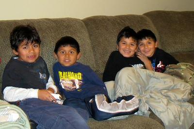 Boys in their playroom- Jonathan, Alex, Alberto, Michael
