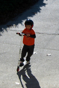 James on the scooter