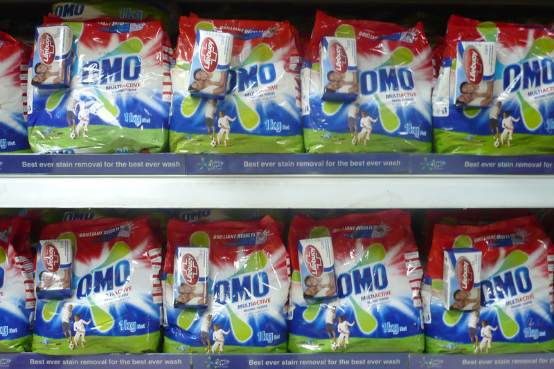 The Omo packaging was a little different than I remembered, but at least it's still there