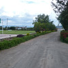 Looking towards the main exit/entrance of the school. On the right is the parking lot. Actually the next seven pictures form a panorama, going to the right.