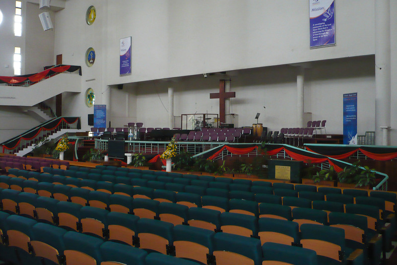 Nairobi Baptist Church - inside the new sanctuary