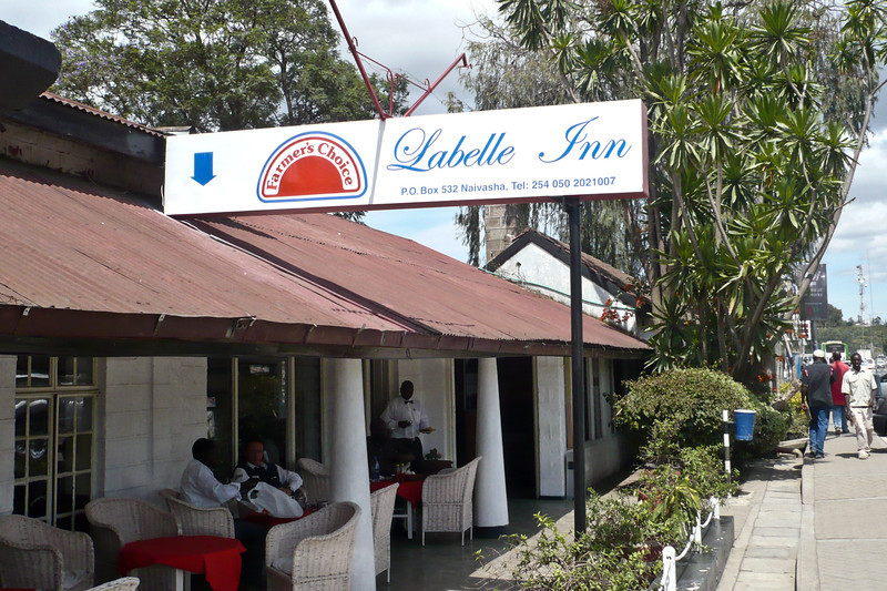 When Erin and I were driving in our rental car from Nairobi to Nakuru, we wanted to stop for lunch in Naivasha. I knew there was a certain restaurant that our family used to stop at a lot, but I couldn't remember it's name or where it was exactly. Amazingly, we found it! Labelle Inn.