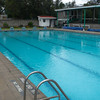 The new 25m swimming pool, near where the stables were. The old pool area was torn down and removed.