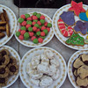 A selection of homemade Christmas cookies. Yum!