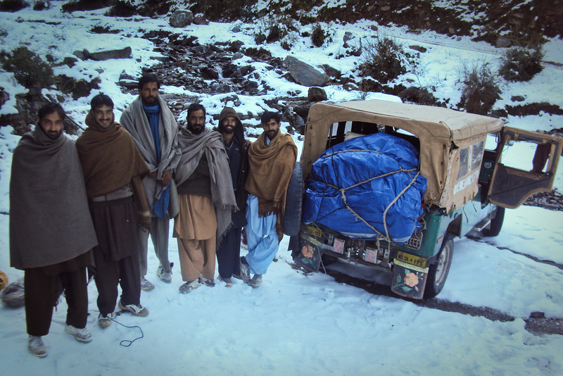 These men helped carry our stuff down the mountain