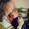 Sienna enjoyed being held by Grandma!