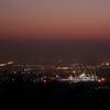 Faisal Mosque and the rest of the Islamabad lights, just after sunset