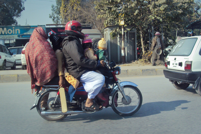 Family vehicle. Pakistan.