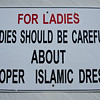 We saw this sign for women here and there in the mosque complex