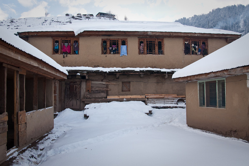 The home we stayed in is in the center; on the right is the school building, and on the left is the school office
