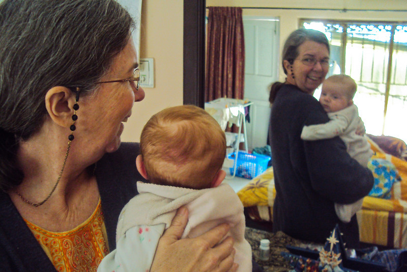 It was around this time that Sienna first started 'recognizing' herself in the mirror - or at least she started smiling at the baby she saw in the mirror