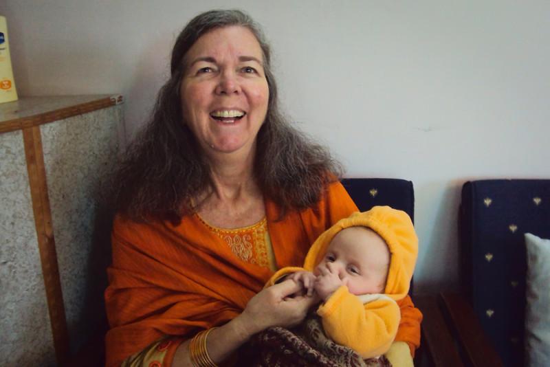 Grandma holding Sienna