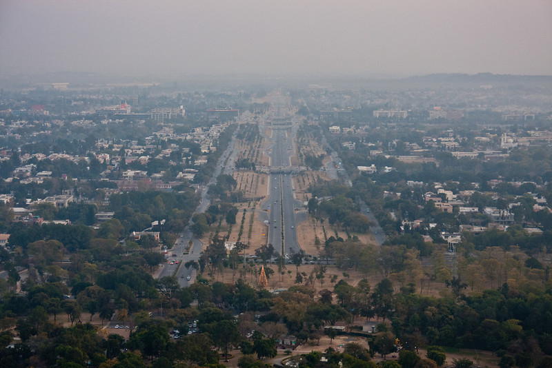 The view of Islamabad from the Damn-e-Koh viewpoint