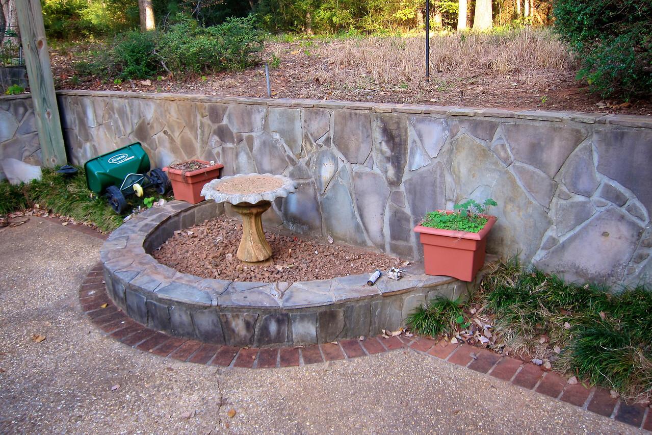 Before - unused fountain