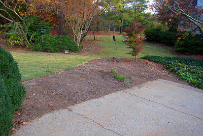 Before - end of driveway garden
