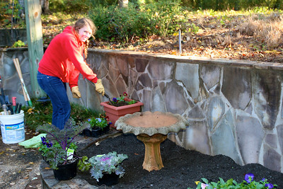 Jessica planting