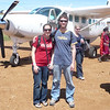 Arrival at Maasai Mara. This was the smallest plane I've ever flown on - just 12 or 13 seats.