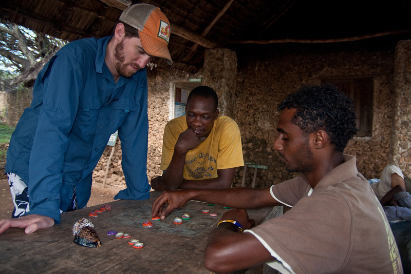 Playing checkers, Kenya style
