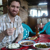 Our first Kenyan meal! Ugali, sukuma, stew and chapatis. And Stoney Tangaweezi. Yum!