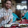Our first Kenyan meal! Ugali, sukuma, stew and chapatis. And Stoney Tangaweezi. Yum!