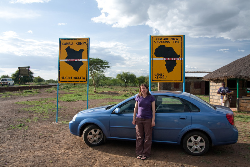 Crossing the equator on the road to Baringo