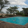 Looks like I'm having fun! We came to Island Camp, Lake Baringo, for the day.