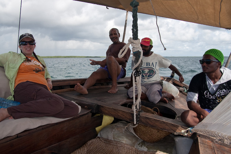 The next day we took a longer dhow trip that included snorkeling and a barbecue lunch with freshly caught fish on a deserted island. That was the best fish either of us had ever tasted in our lives!