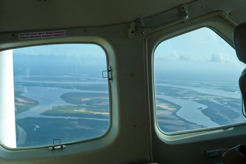 The view out the window as we took off from Lamu