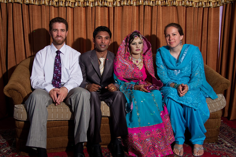 Erin and I with the bride and groom, Zeeshan and Pinky.