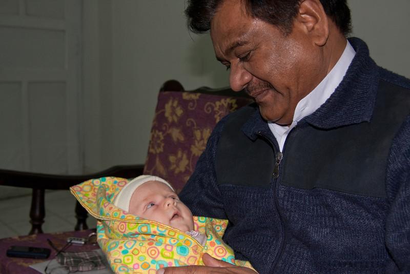 Mr. Walter holding Sienna
