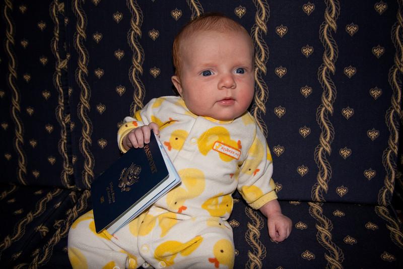 Sienna with her new passport