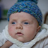 Someone knitted Sienna this cool beanie. It really brings out the blue in her eyes.