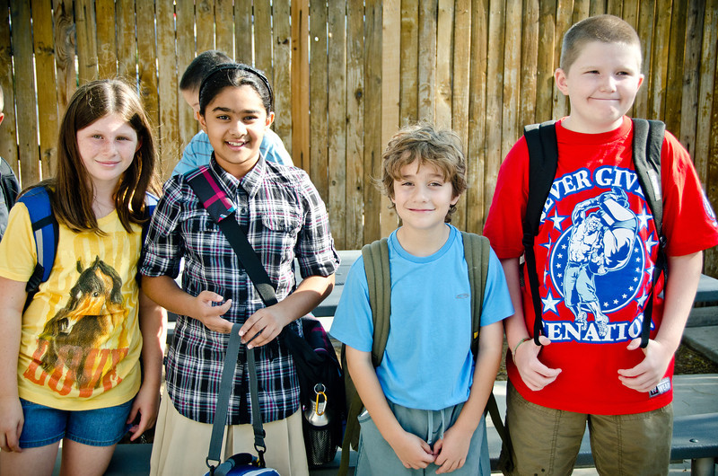 The gang from Collier at their first day of school at Basis