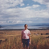 Annie on Hyrax Hill, 1993. Notice how the area in front of the lake is wide open and empty.