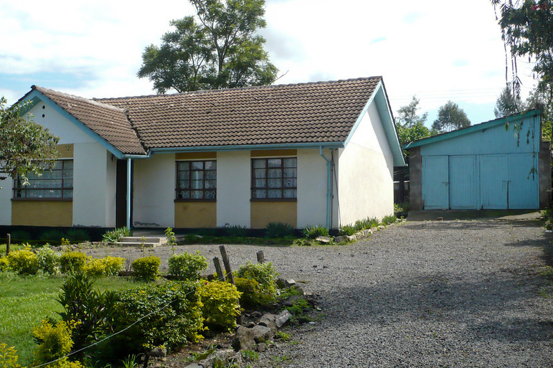 The house in 2011. No hedge next to the driveway!