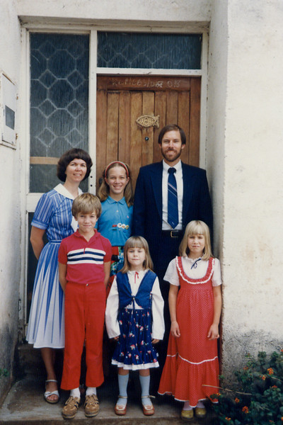 Family picture by the front door, around 1988-1990?