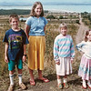 The four kids by the same dirt road in front of Lake Elementaita, c. 1989-1991