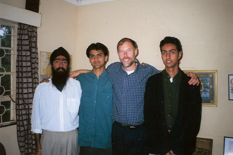 Vijay Vora, next to Dad on the left (Dad's right), I'm thinking around 1998-1999? (Not sure who the other guys are.)