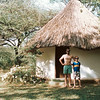 Dad and Jimmy, Robert's camp, Lake Baringo, around 1992