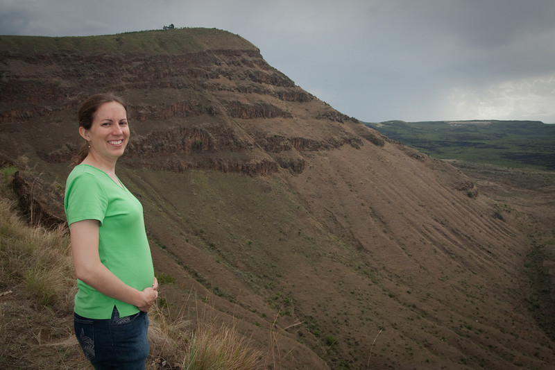 2011: Erin, with a new generation of Douglass in her belly, at our old Menengai crater viewpoint. Actually I couldn't recall which was the exact spot we used to go to, because there were a number of dirt roads heading to the crater rim from the main road. So our old spot might be this one or somewhere nearby.