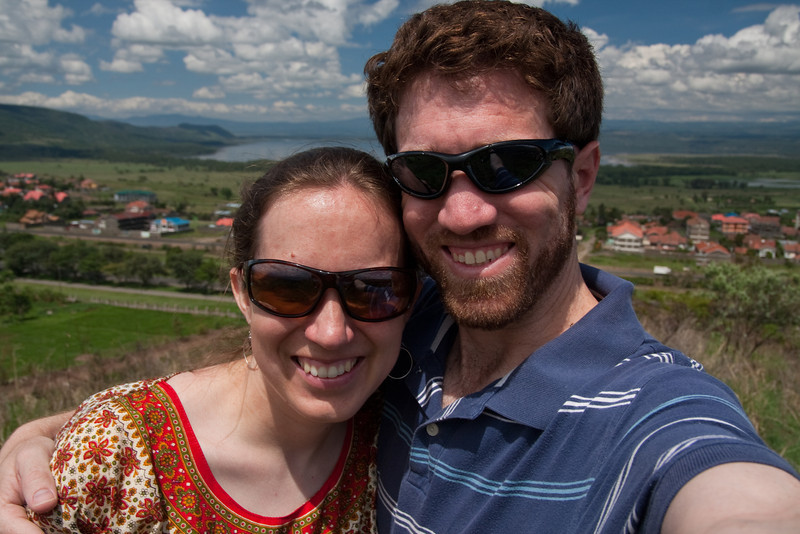 Erin and me on Hyrax Hill, 2011