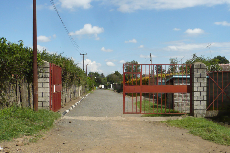 Ruaraka Close in 2011, looking in the opposite direction. Our house is in the distance on the right. There's a big security gate now!