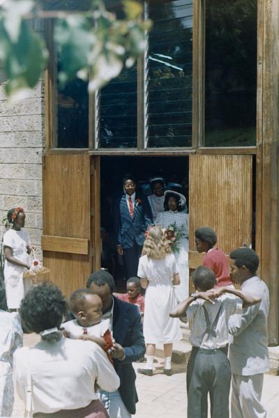 Nairobi Baptist Church: Annie at Teacher Sam's wedding, 1990