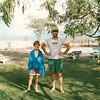 Jimmy and Dad at the Island Camp swimming pool, Lake Baringo, 1992. Notice the cool tree on the right.
