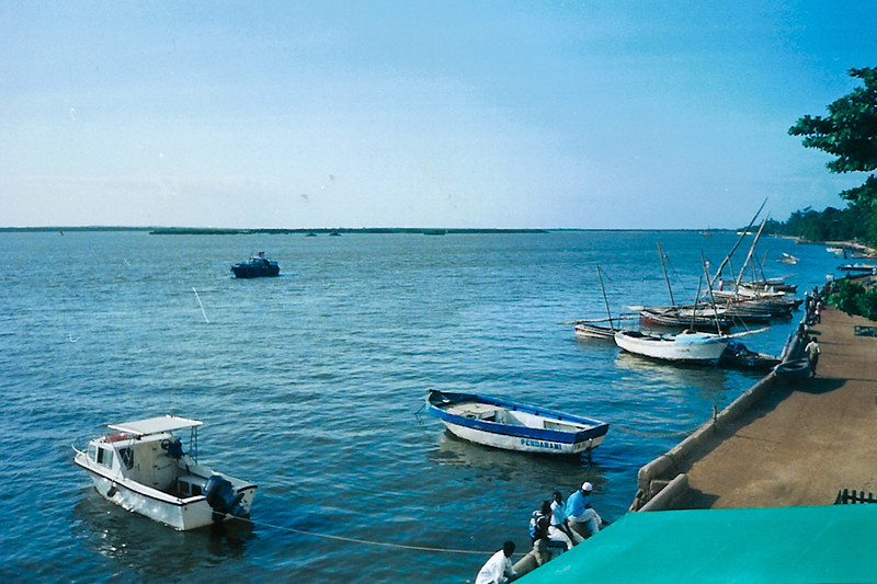 The Lamu shoreline, whenever it was that Julie, Lisa, Mom and Dad went there (between 1999-2002)