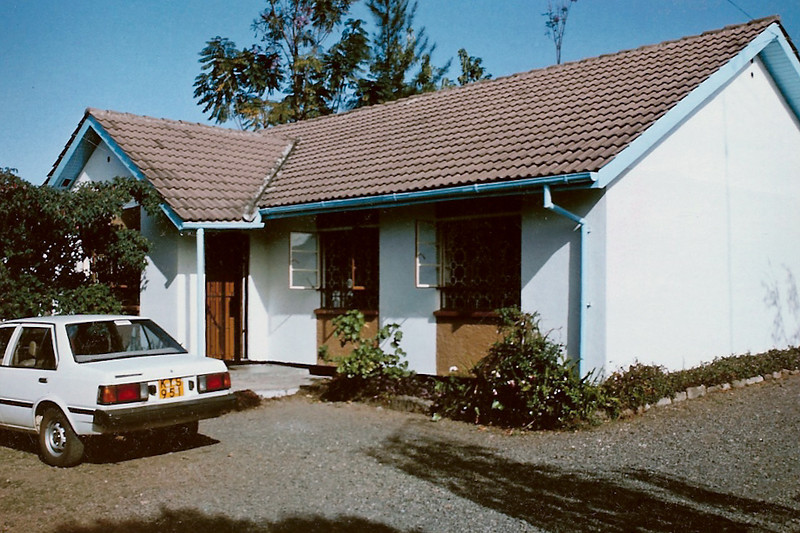 Our Nakuru house, sometime while we lived there, with good old KYS 951 waiting faithfully!