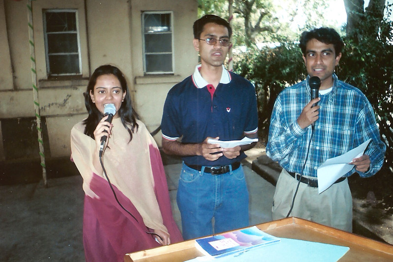 Left to right: Kirti Vora, Vijay Vora, and Hash Gudka, sometime 1999-2002 I think?