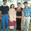 L to r: Vijay Vora, Kirti Vora, Deepa Vora Gudka, and Hash Gudka, around 1999-2002